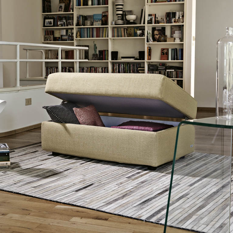 Pouf letto poltrone e sof perfect divano posti pronto letto in tessuto nora with pouf letto - Poltrone e sofa pouf letto ...